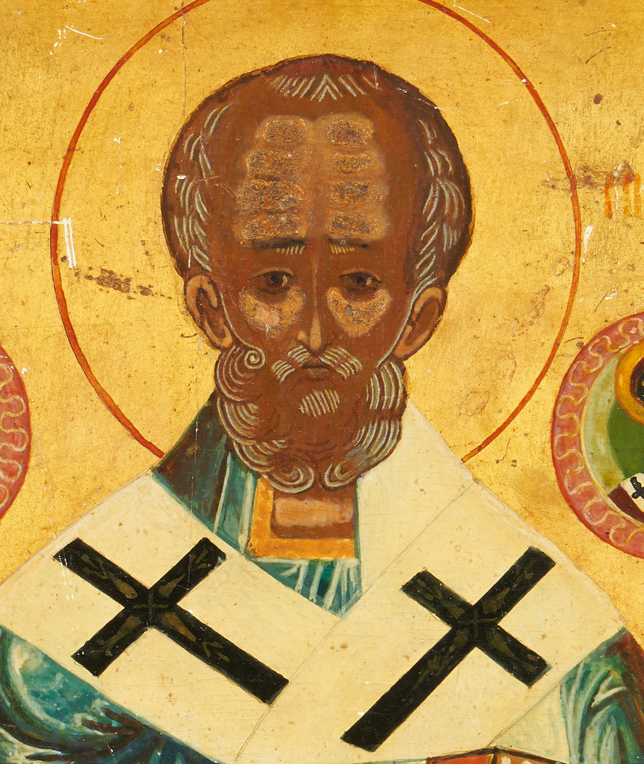Lot 770: 2 Russian Icons: St. Nicholas and Ascension