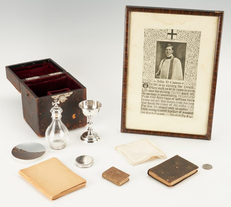 Lot 771: John Cannon Sewanee Communion Set & 3 Books