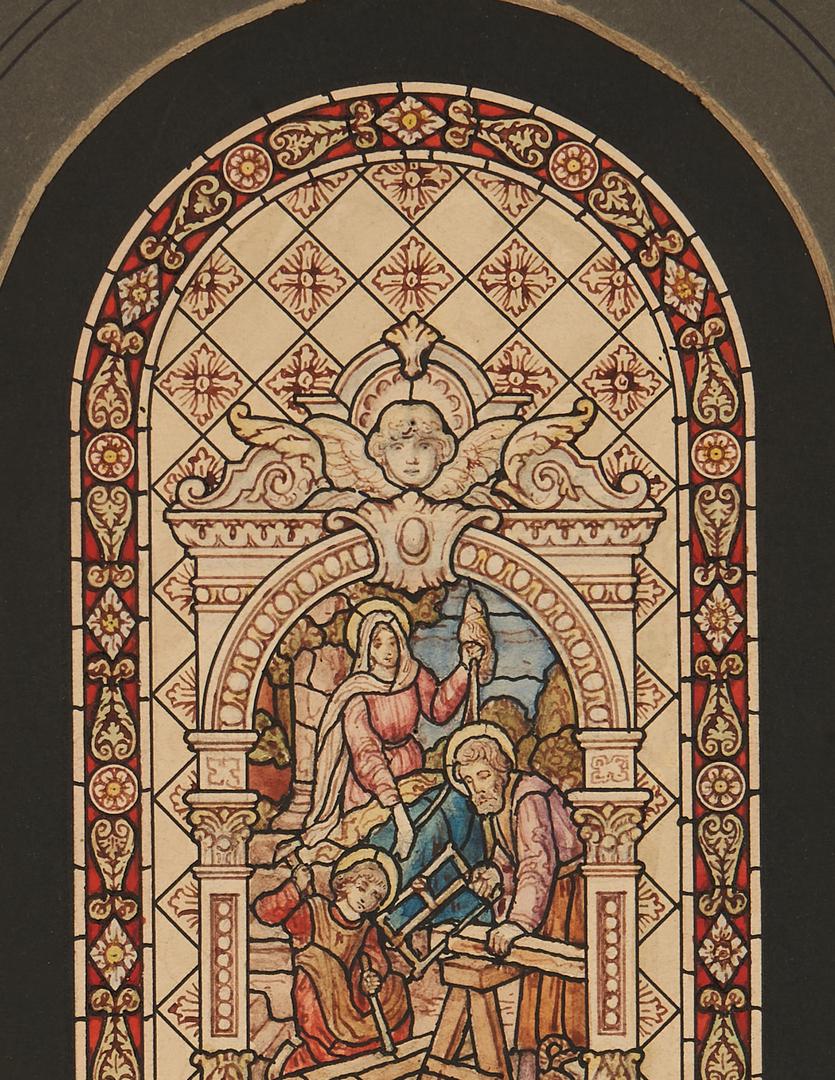 Lot 772: 5 Stained Glass Window Studies, Munich Studios Chicago
