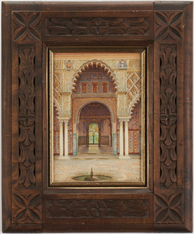 Lot 774: Watercolor of Islamic Palace or Temple