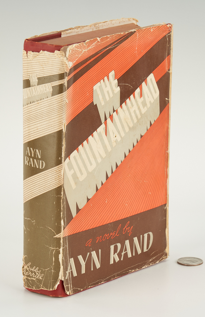 Lot 776: Ayn Rand Signed First Edition THE FOUNTAINHEAD, 1943