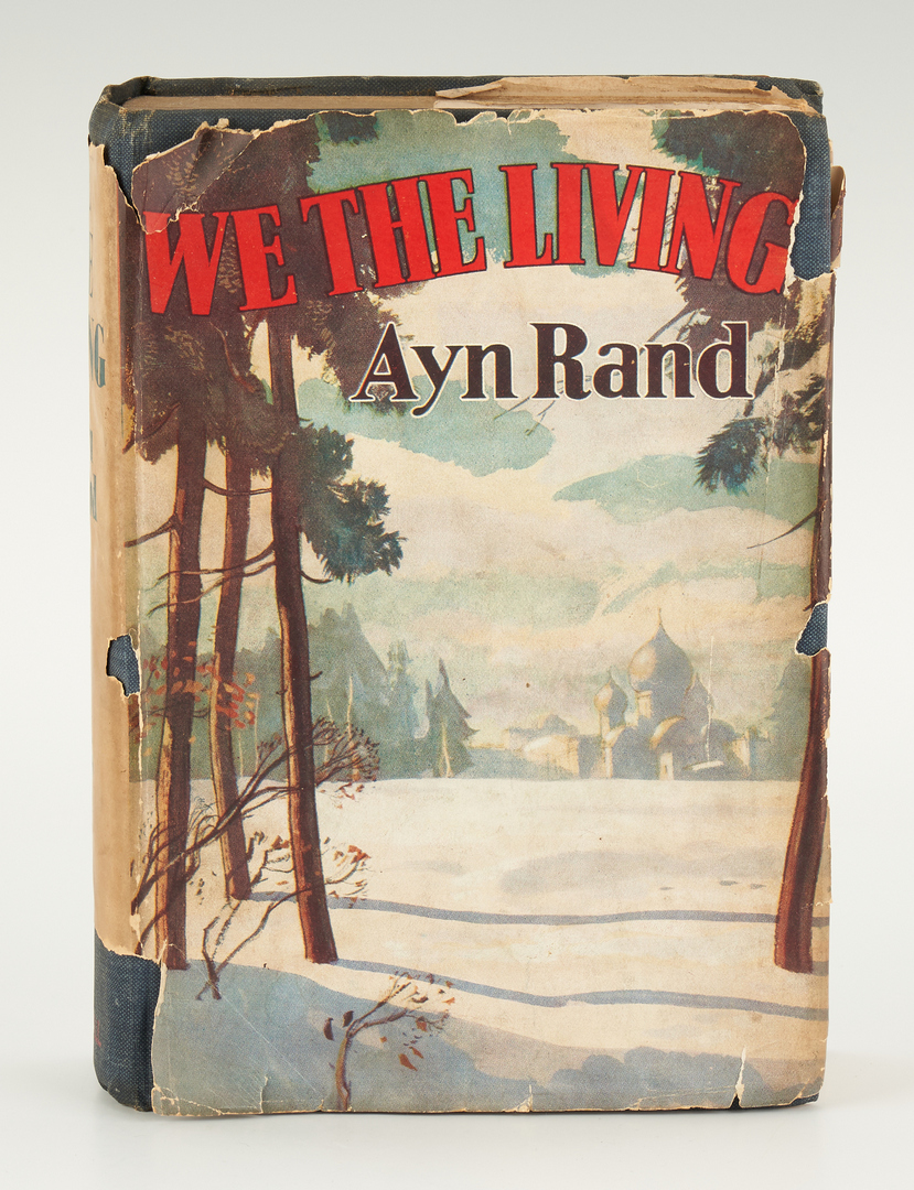 Lot 777: Ayn Rand Signed WE THE LIVING, 1940, 2 items