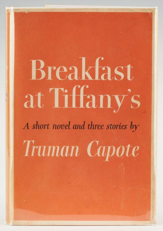 Lot 779: Truman Capote Signed Copy, Breakfast at Tiffany's