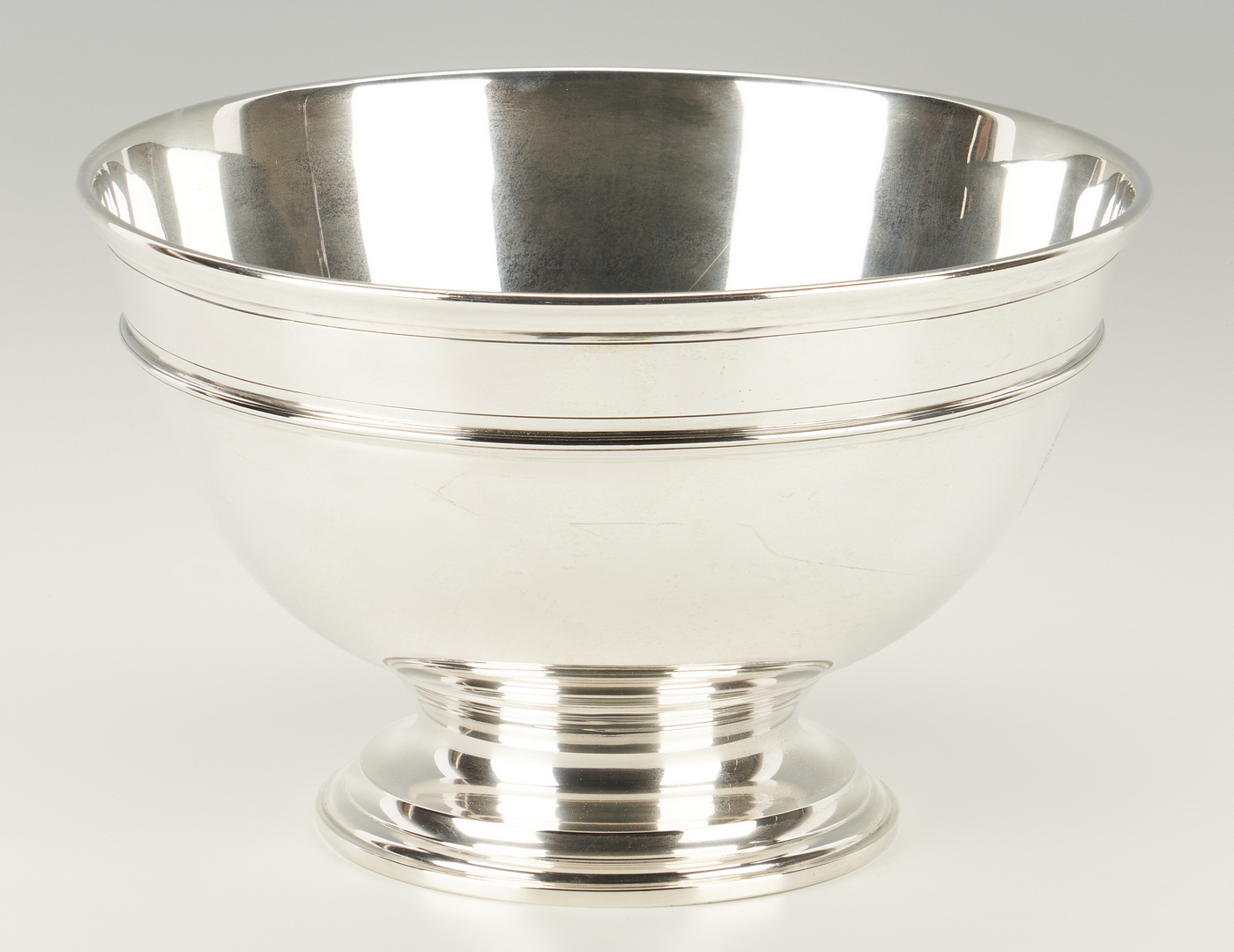 "Lot 77: Tiffany Sterling Silver Punch Bowl, 13 1/2"" dia"