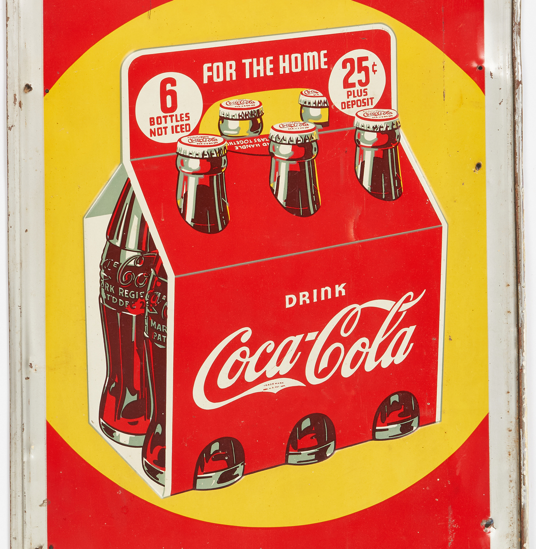 Lot 783: 2 Coca Cola Advertising Signs, incl. Cigar Shape Thermometer
