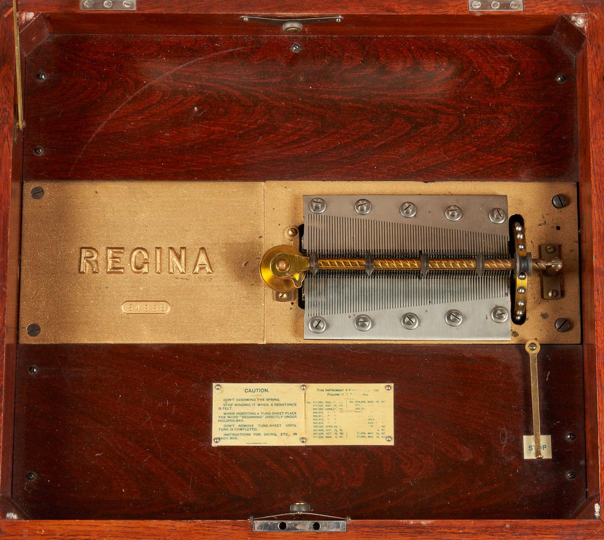 Lot 785: Regina Music Box with 19 Discs
