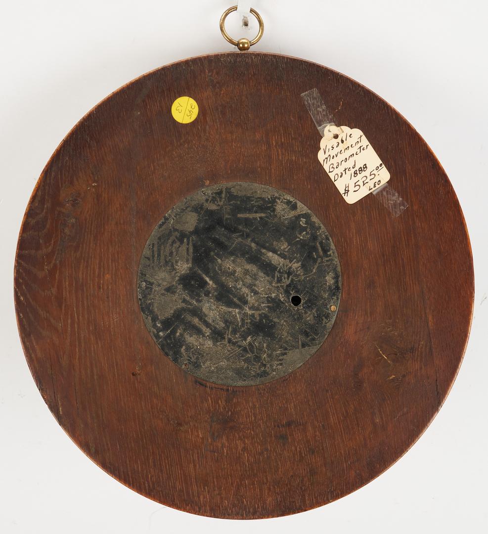 Lot 788: English Water Clock and Barometer, 2 items