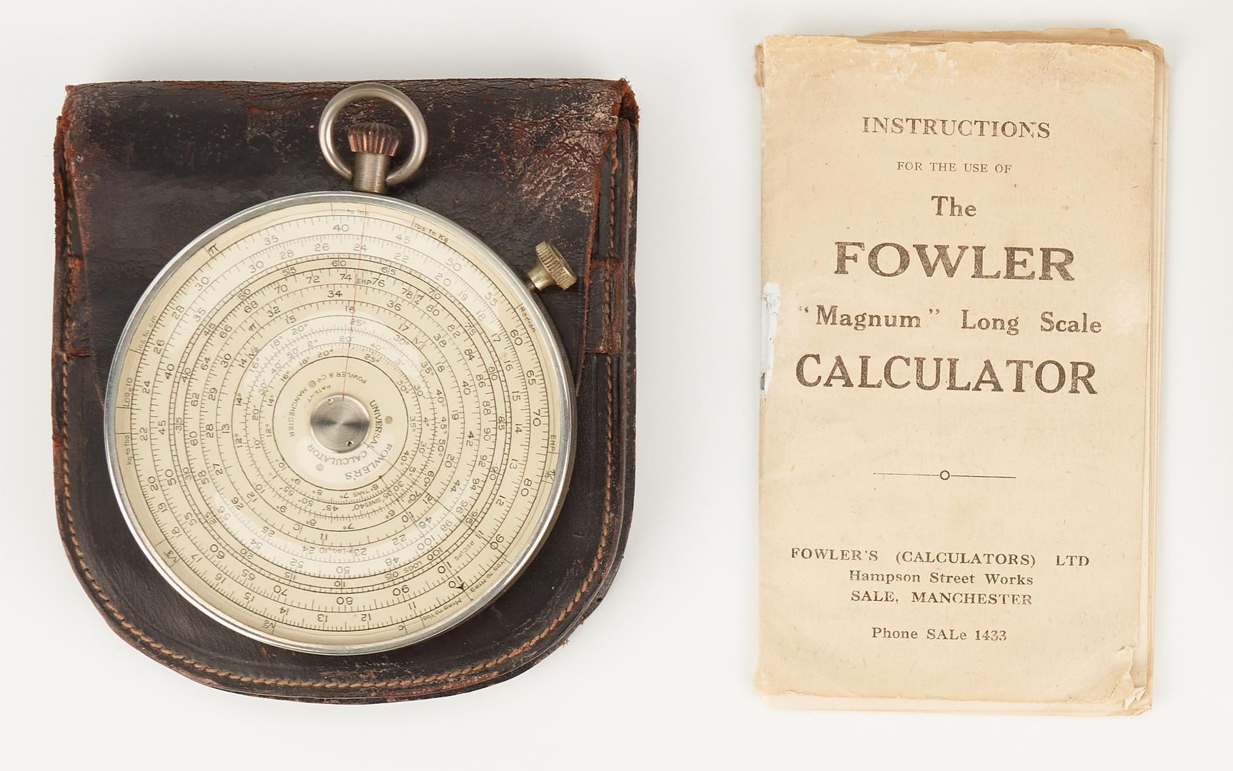 Lot 791: 5 Pocket Watch Style Circular Calculators, incl. Fowler's