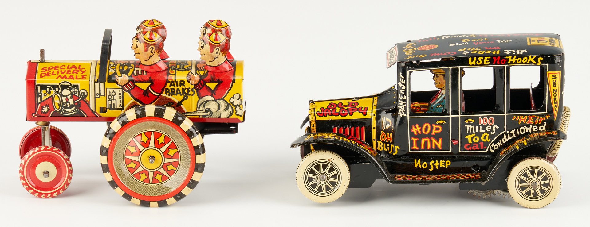 Lot 798: 2 Marx Old Jalopy Lithographed Toy Cars in Boxes