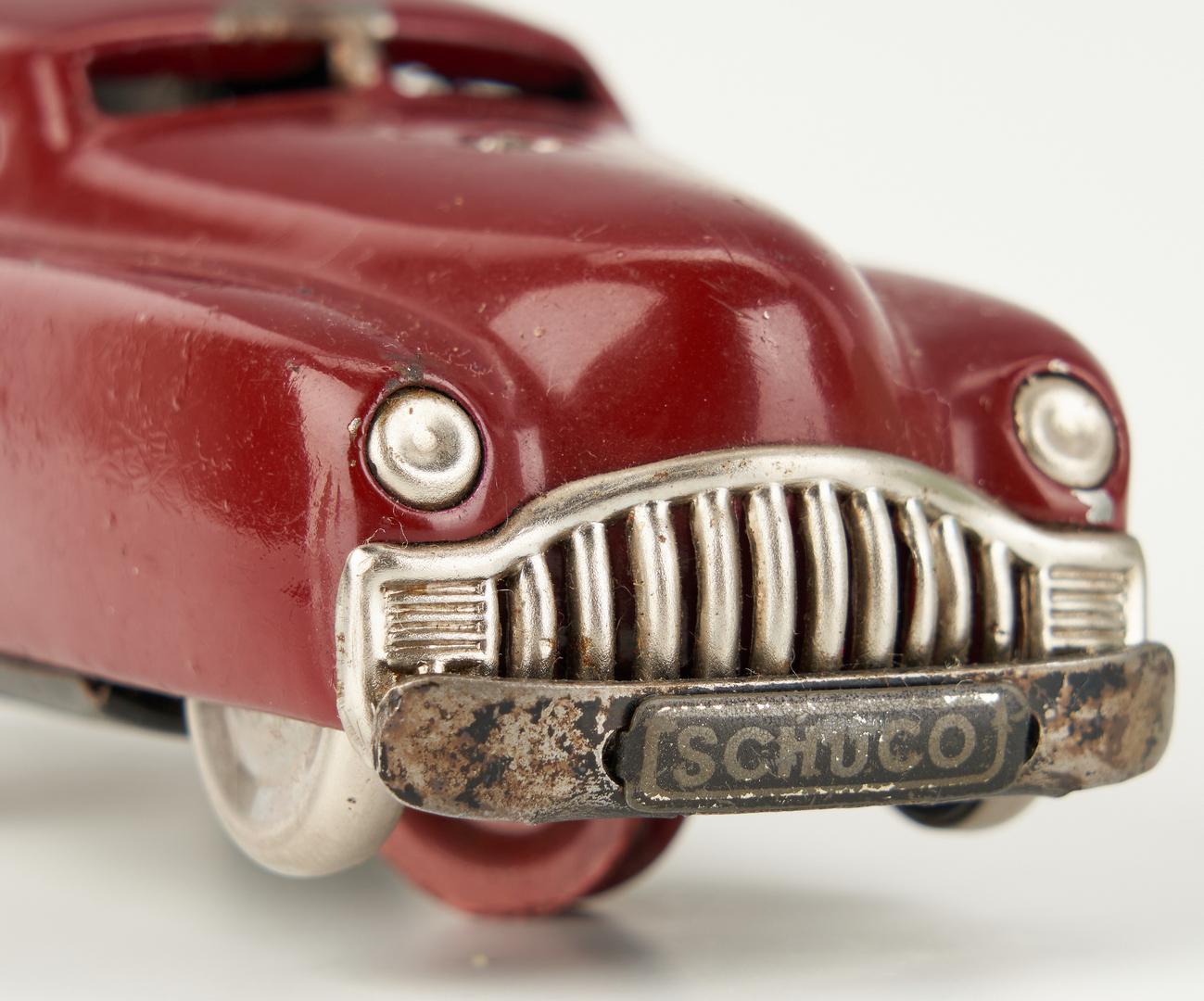 Lot 799: 5 Tin & Metal Toy Cars incl. Marx, Schuco, Wyandotte