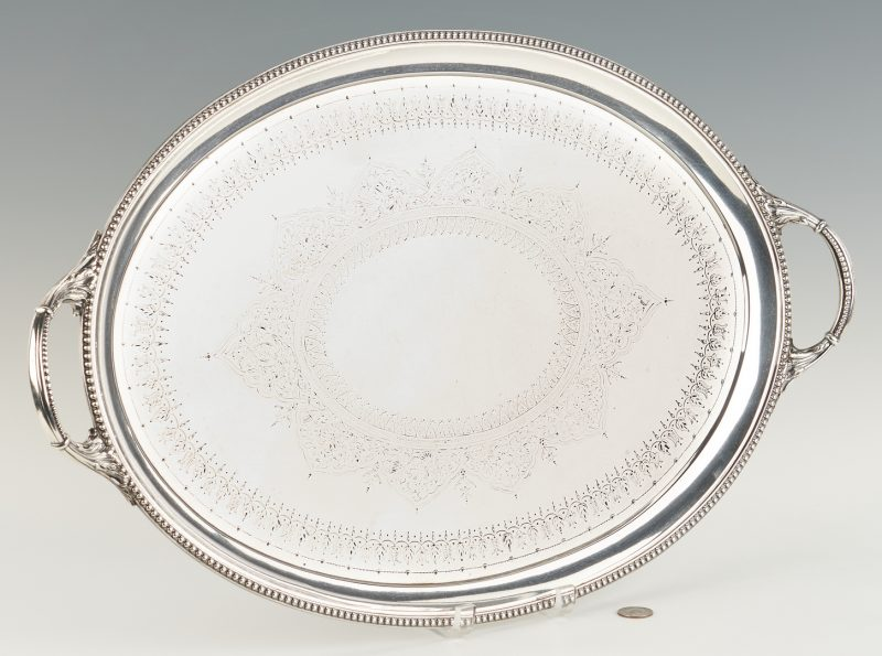 Lot 79: English Sterling Tray, Walter & John Barnard