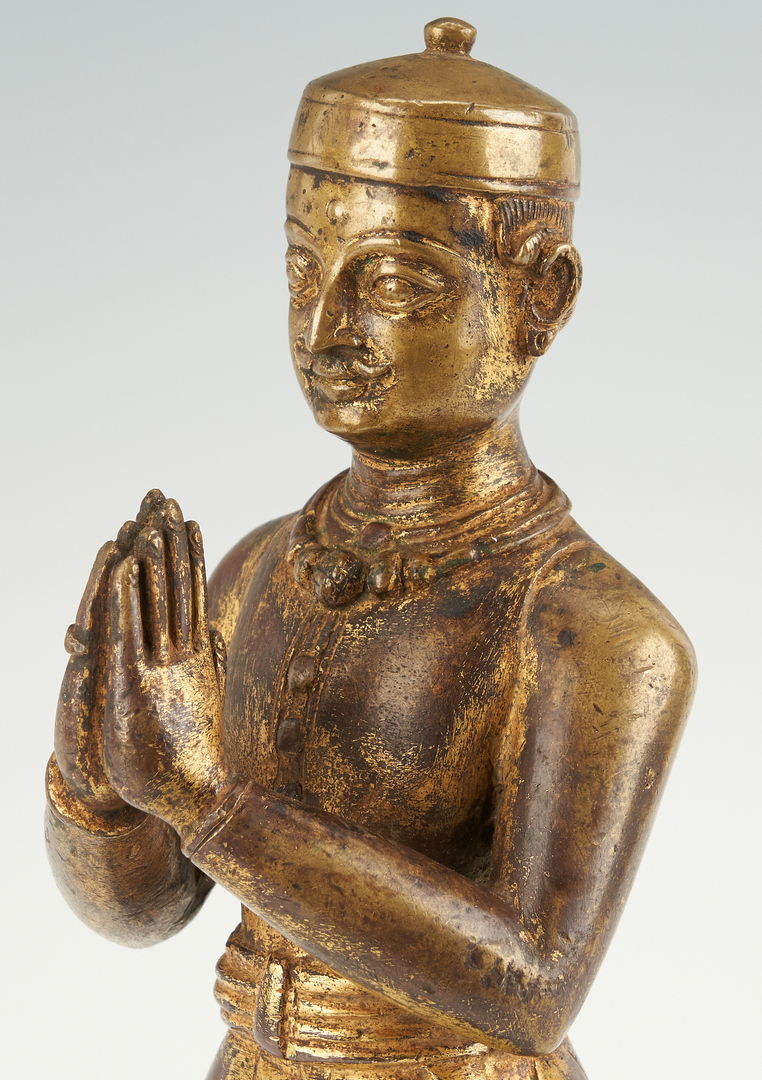 Lot 7: Chinese Bronze Figure and Japanese Tsuba