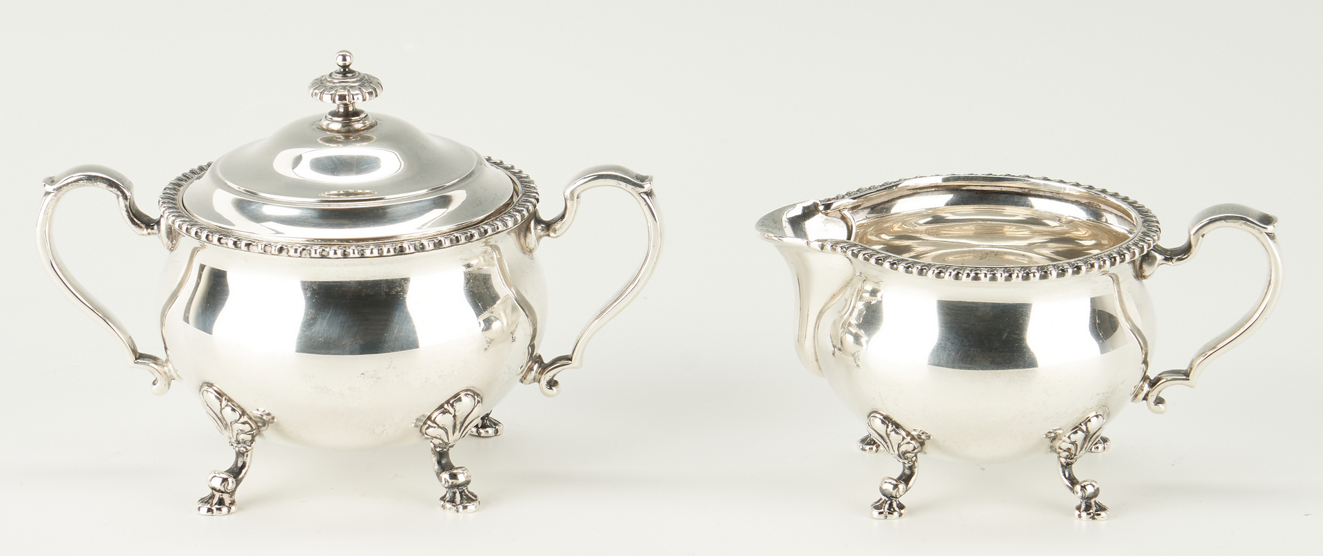 Lot 802: Tiffany Sterling Silver 4-Piece Tea Set