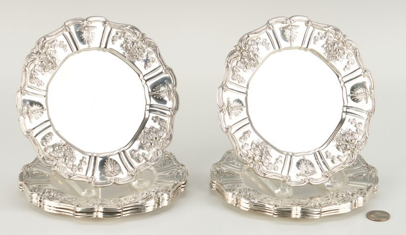 Lot 806: 10 Reed & Barton Francis I Sterling Bread Plates