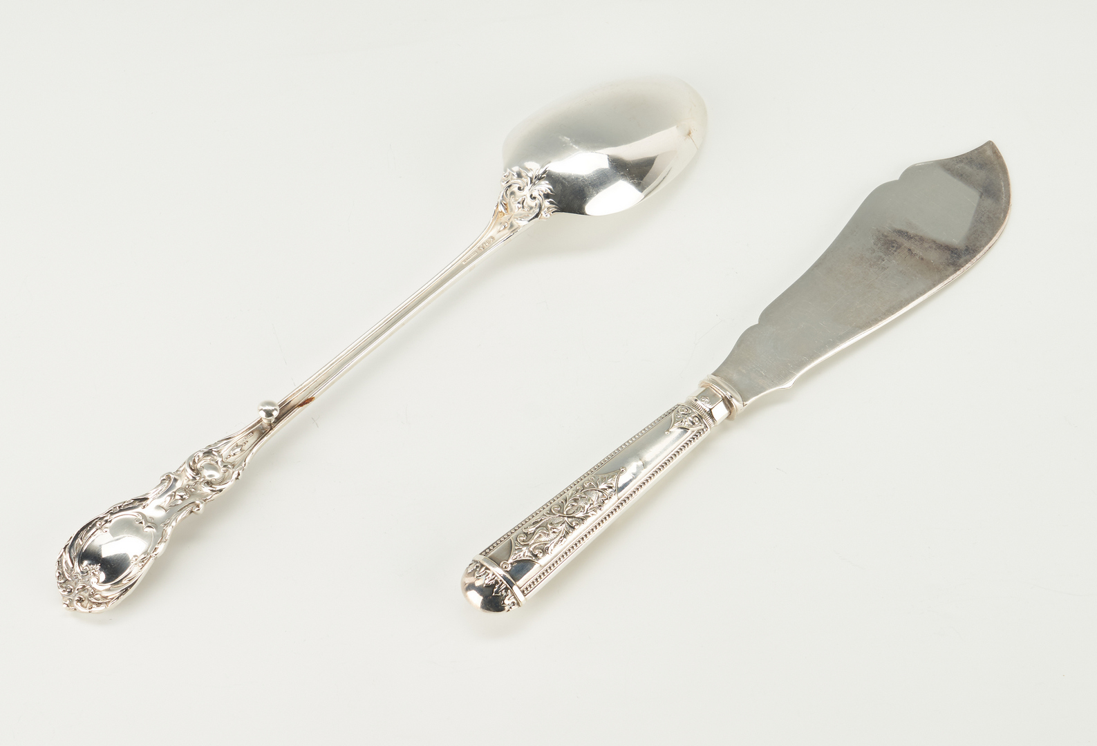 Lot 808: Sterling Flatware, Candlesticks, Napkin Ring and more