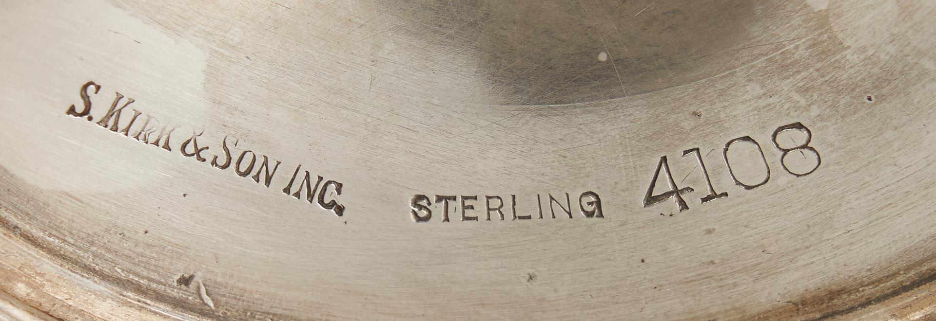 Lot 811: Set of 5 S. Kirk & Son Sterling Goblets
