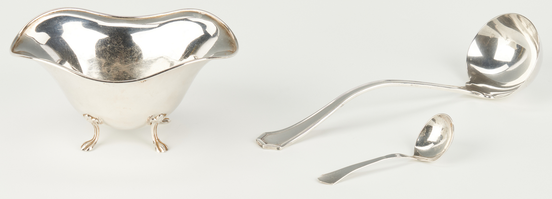Lot 812: 3 Sterling Bowls and 2 Ladles