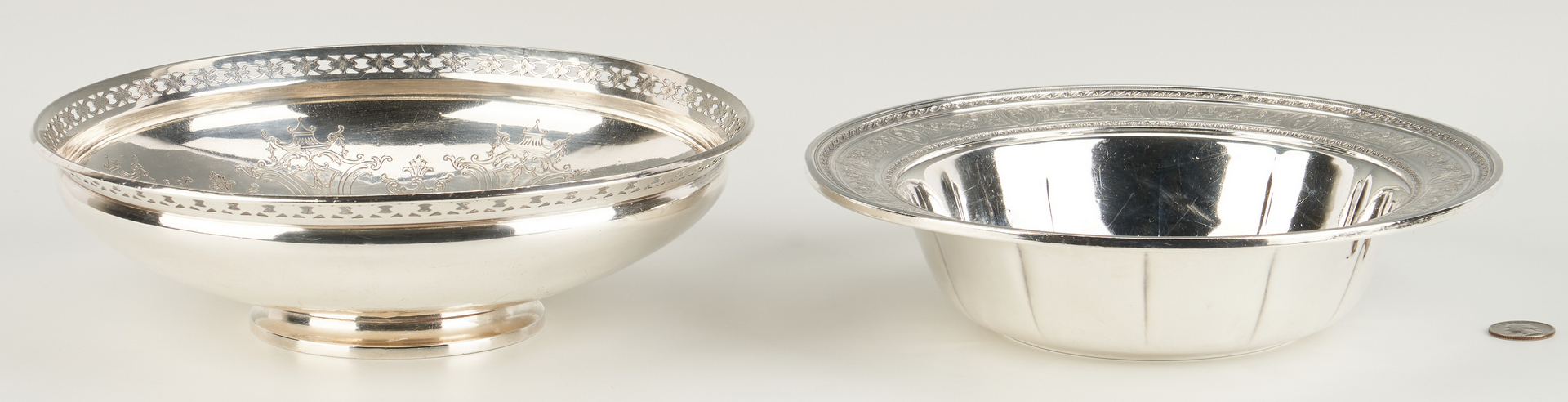 Lot 813: 2 Sterling Bowls incl. Golf Trophy, Belle Meade Country Club
