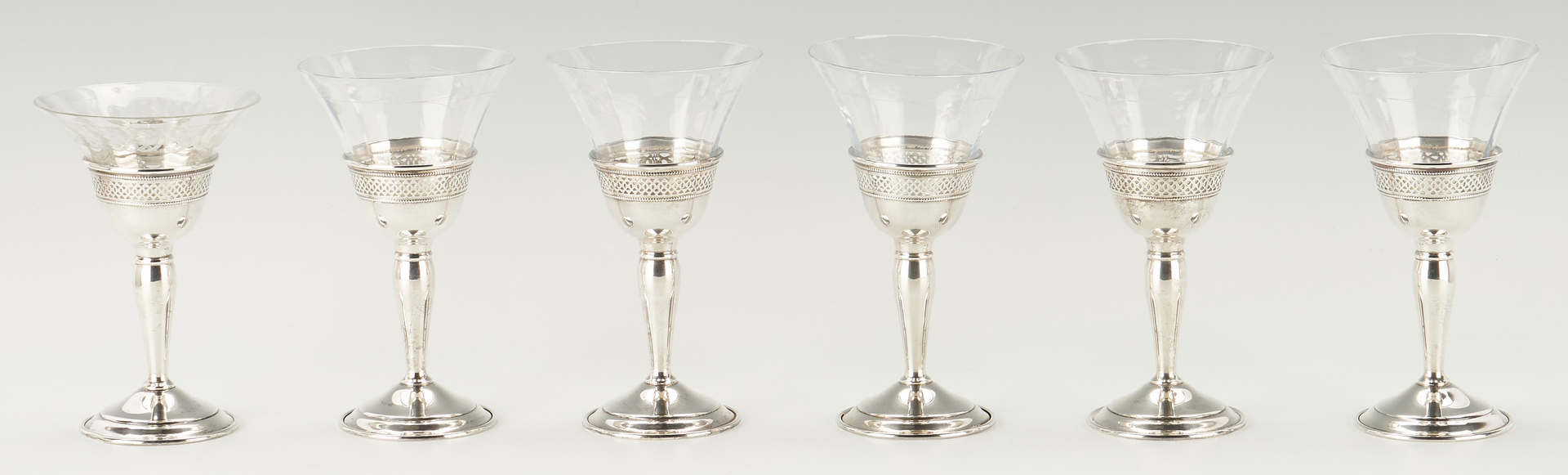Lot 815: 17 Silver Items, incl. 6 Redlich Goblets, Kiddush Cup