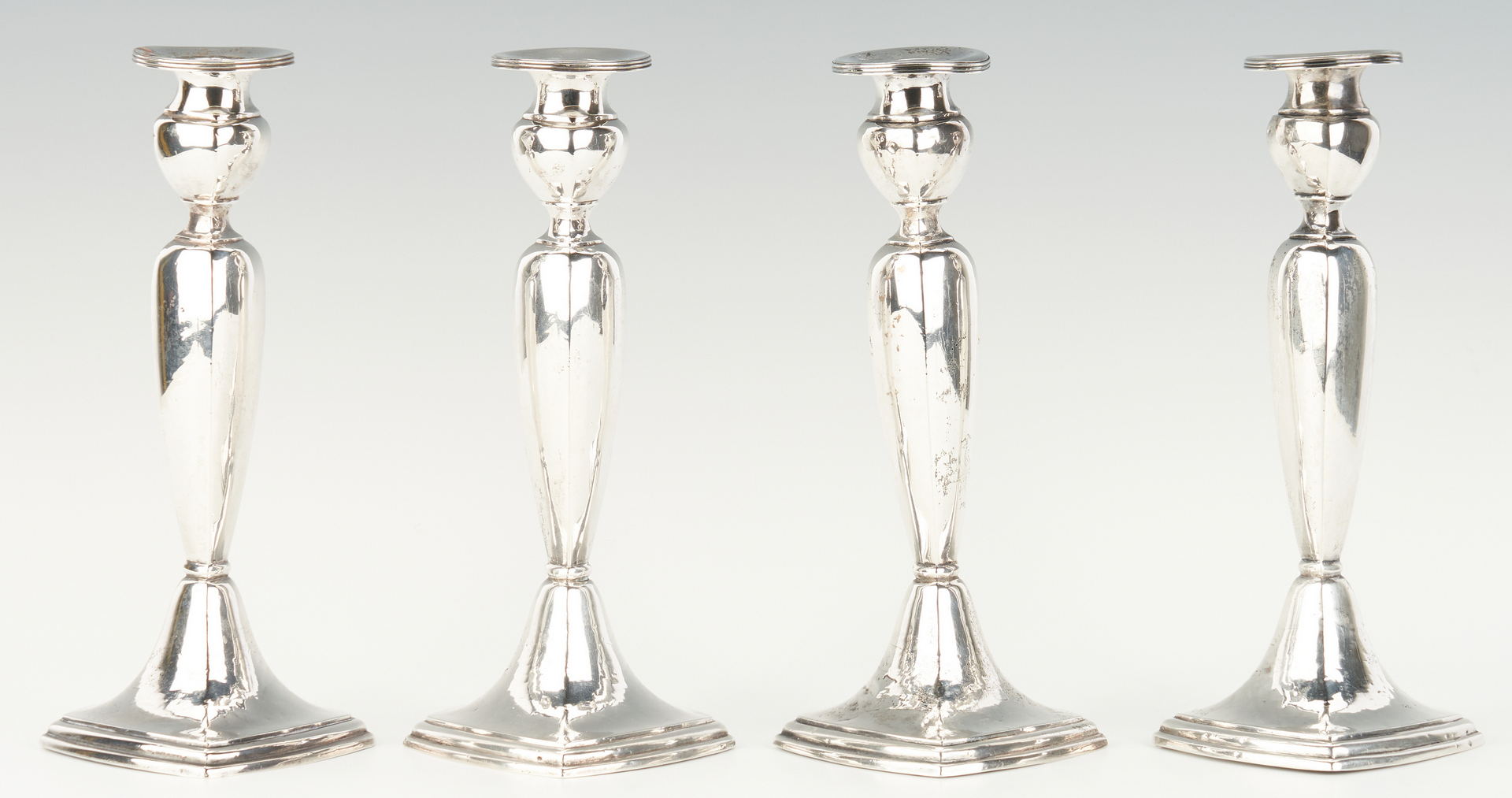 Lot 816: 3 Prs. Sterling Silver Candlesticks, 6 items