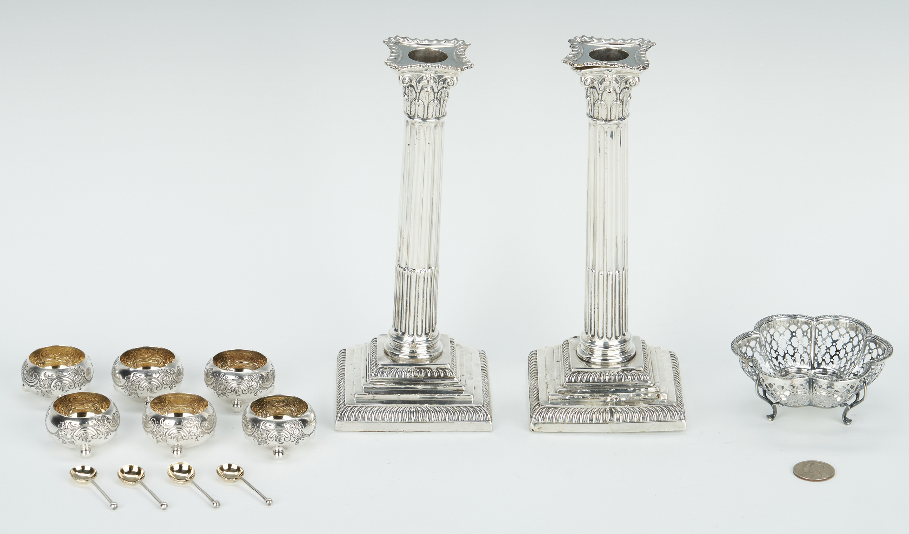 Lot 823: 13 English Sterling Silver Items