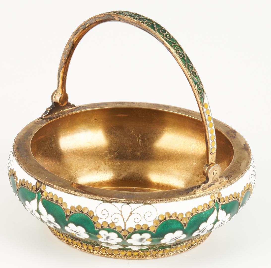 Lot 824: 3 Continental Enameled Decorative Items
