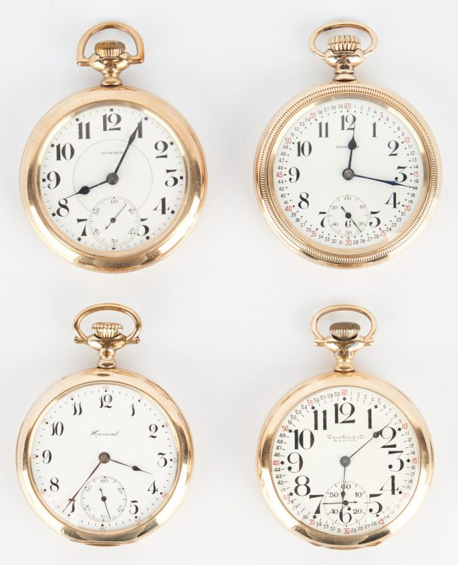 Lot 829: 4 Howard Pocket Watches