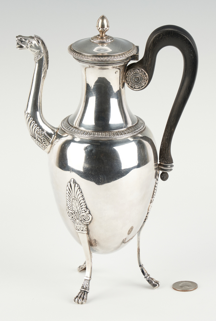 Lot 82: French Neoclassical 1st Standard Silver Coffee Pot