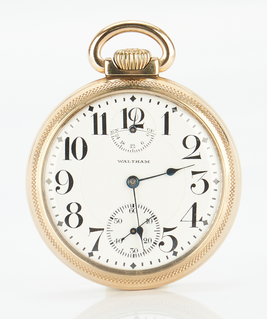 Lot 830: 1915 Waltham Vanguard Pocket Watch, Wide Indicator