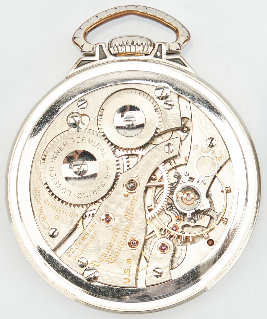 Lot 831: 1926 Waltham Vanguard Pocket Watch, Wide Indicator