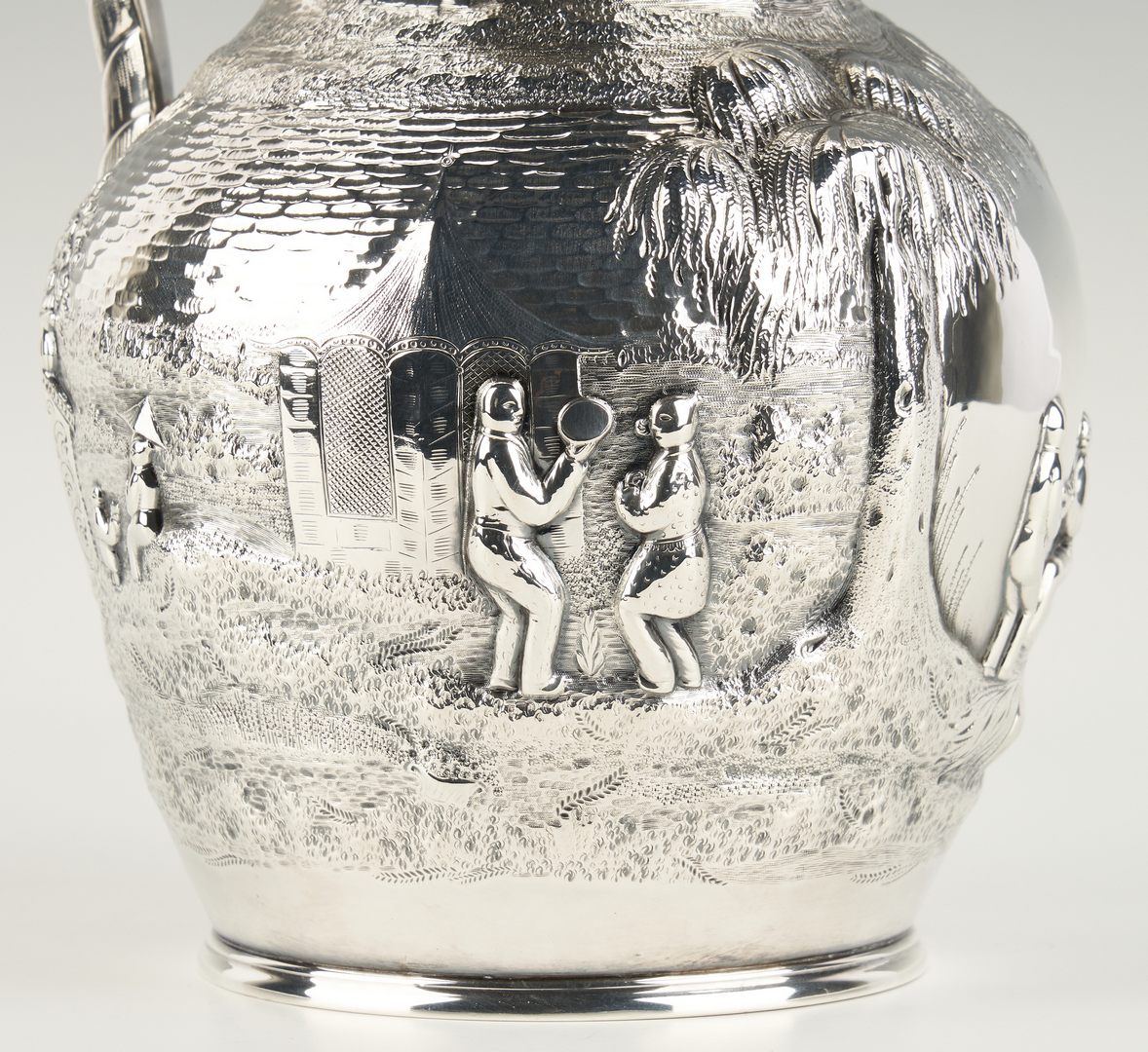 Lot 83: Chinoiserie Silver pitcher Ball, Tompkins & Black