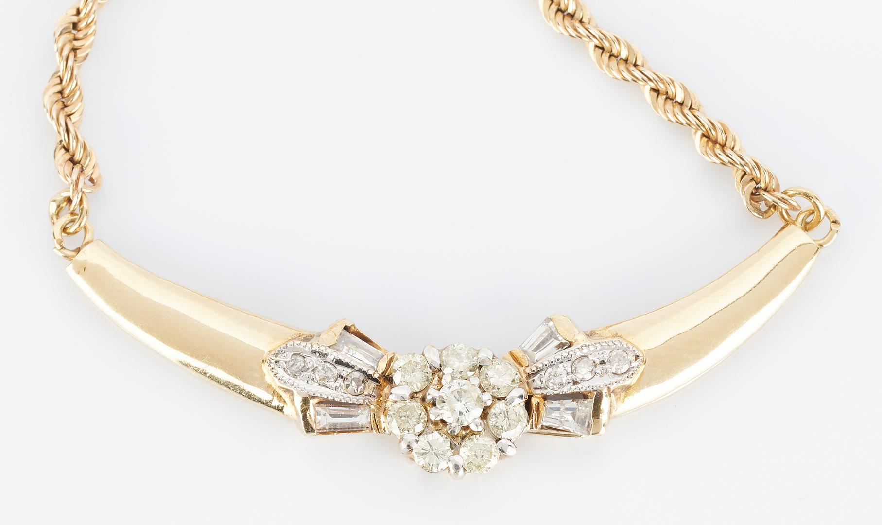 Lot 840: 14K Diamond Pendant Necklace