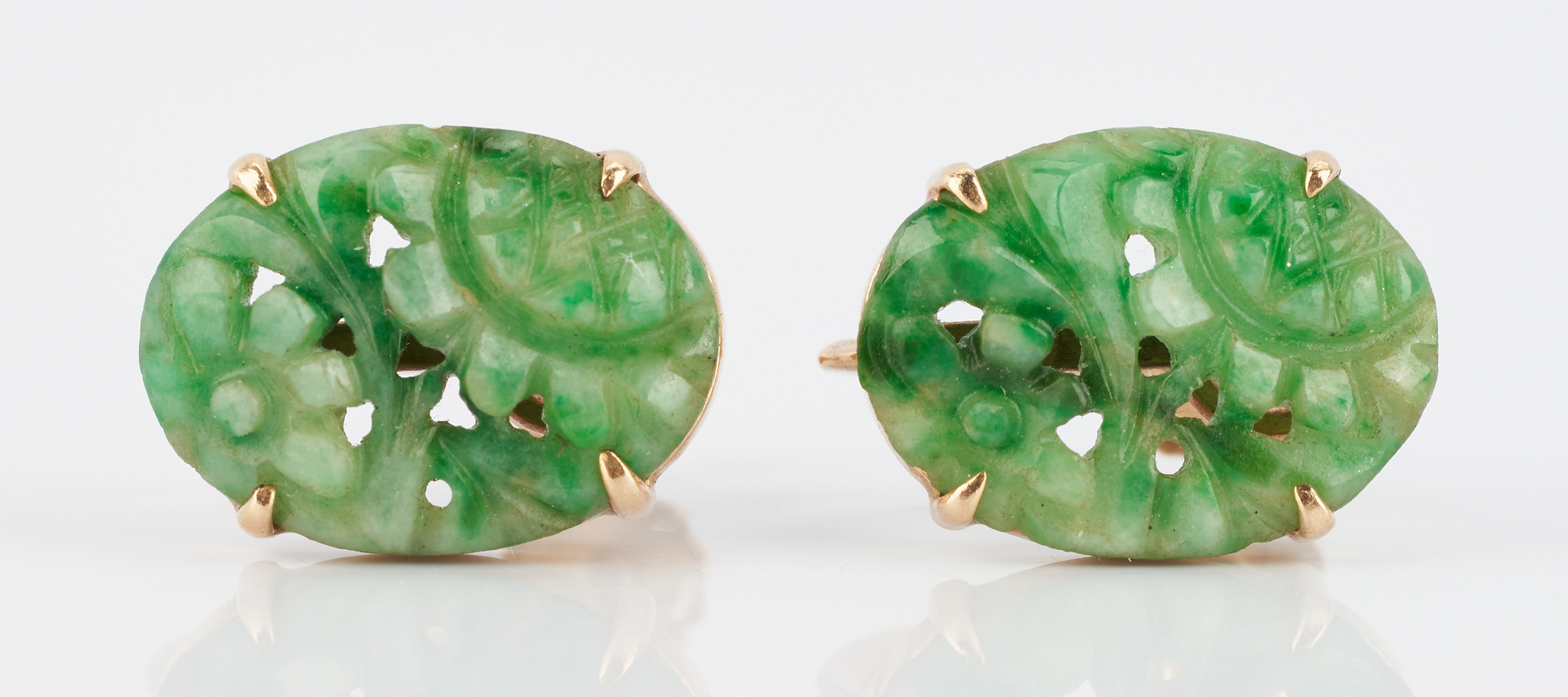 Lot 844: 3 Ladies Jewelry Items, incl. Jade & Aquamarine