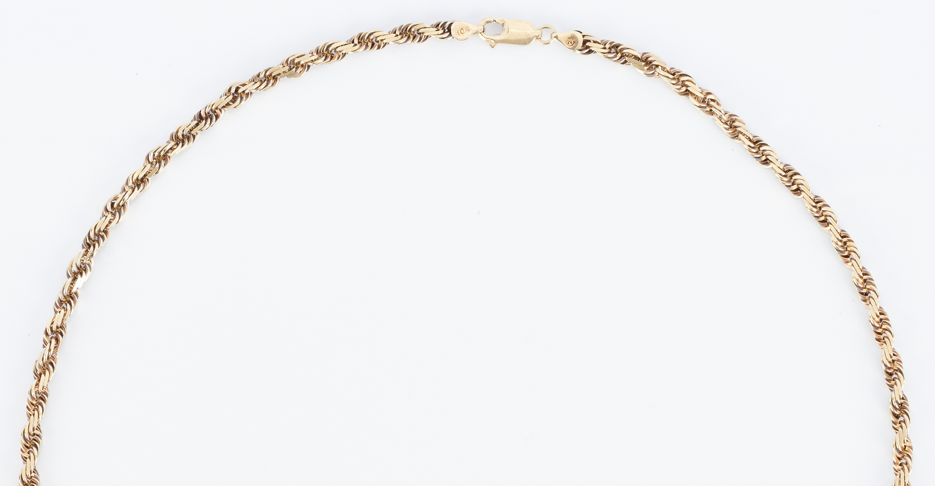 Lot 849: 10K Rope Chain Necklace
