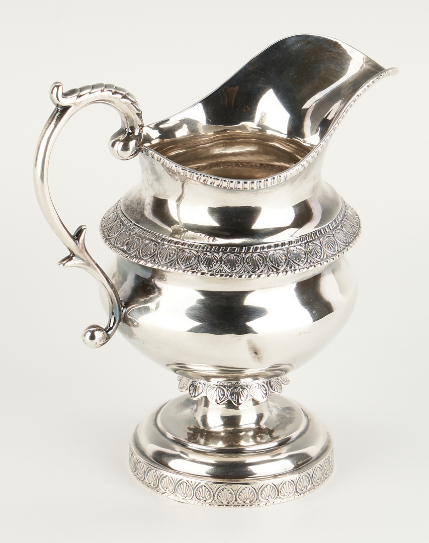 Lot 84: Anthony Rasch Coin Silver Tea Set attr. New Orleans