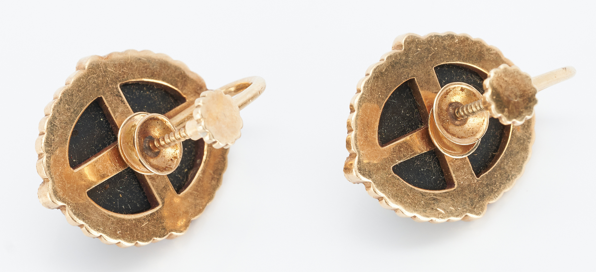 Lot 860: 4 14K and Black Onyx Jewelry Pieces