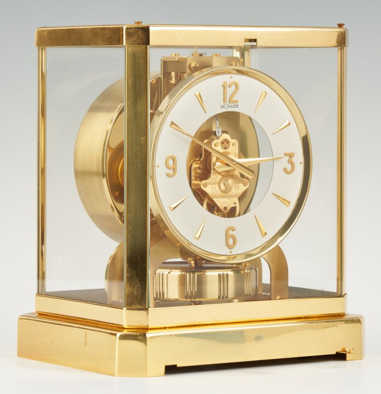 Lot 868: Lecoultre Brass Atmos Mantle Clock