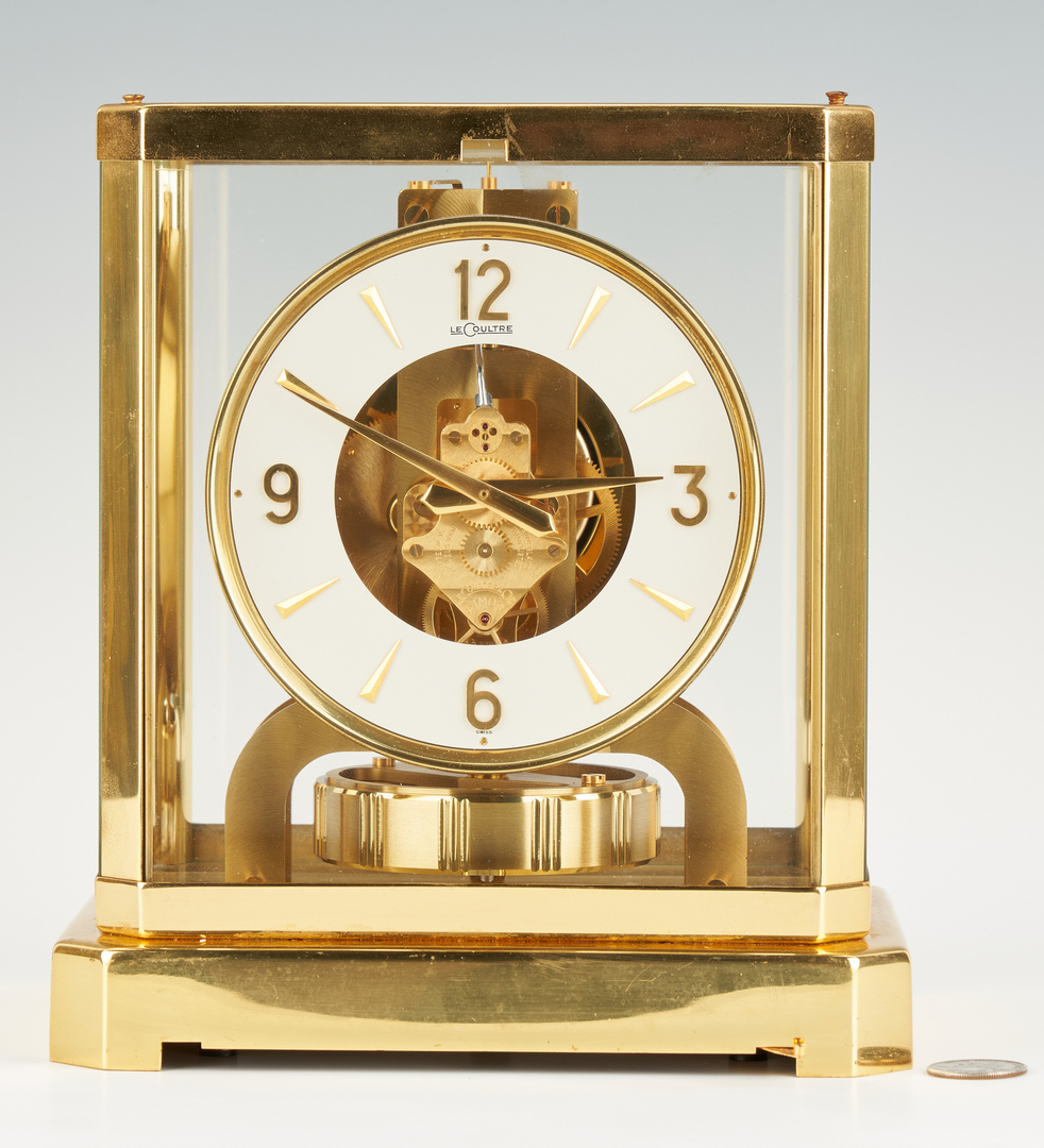 Lot 868: Lecoultre Brass Atmos Mantle Clock