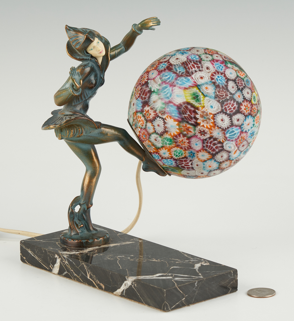 Lot 869: Celluloid and Millefiori Pixie Lamp