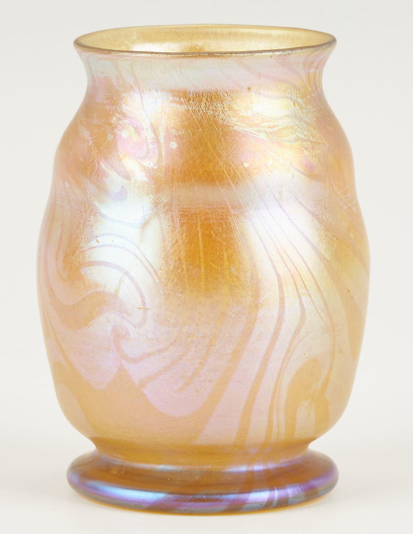 Lot 872: Signed LCT Tiffany Favrile Art Glass Vase