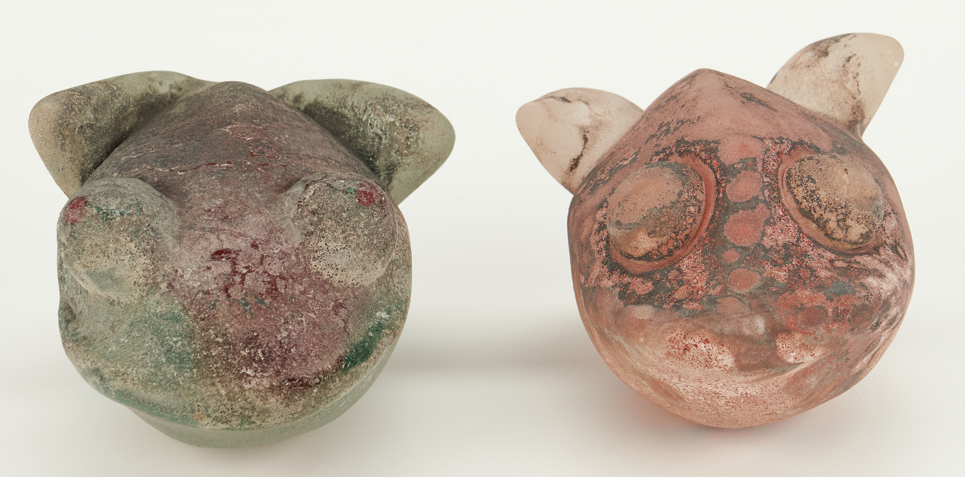 Lot 875: Four Italian Murano Scavo Glass Animals
