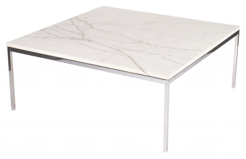 Lot 877: Knoll Mid- Century Marble Top Table, 42""