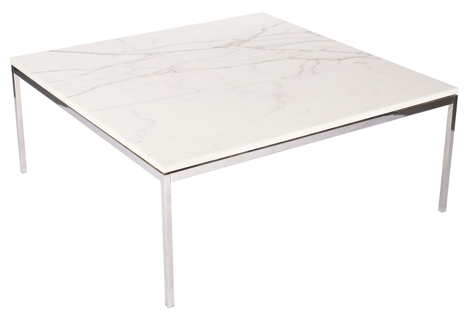 """Lot 877: Knoll Mid- Century Marble Top Table, 42"""""""