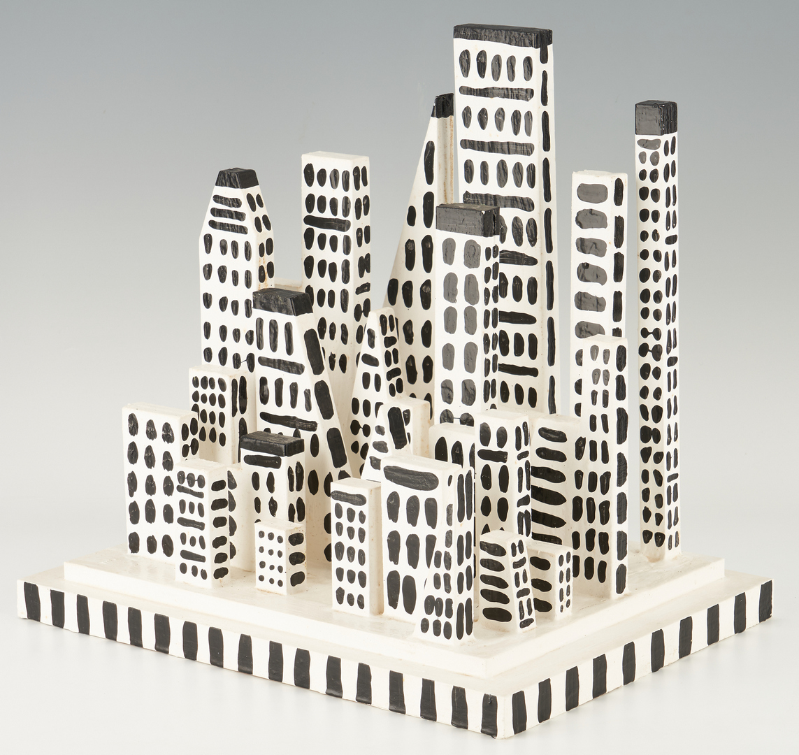 Lot 881: Myles Maillie Sculpture of a City