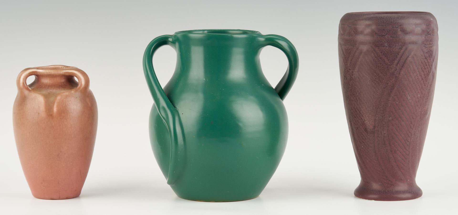 Lot 889: 5 pcs Art Pottery incl. Rookwood & Cartersville