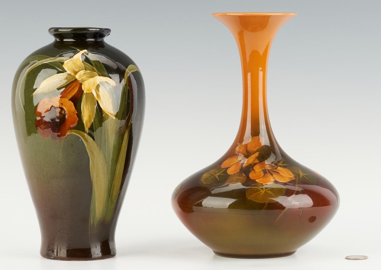 Lot 890: 2  Pcs. Art Pottery,  incl. Rookwood