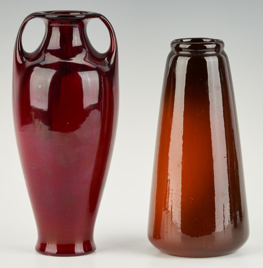 Lot 891: 4 Pcs. Art Pottery, incl. Owens & Weller