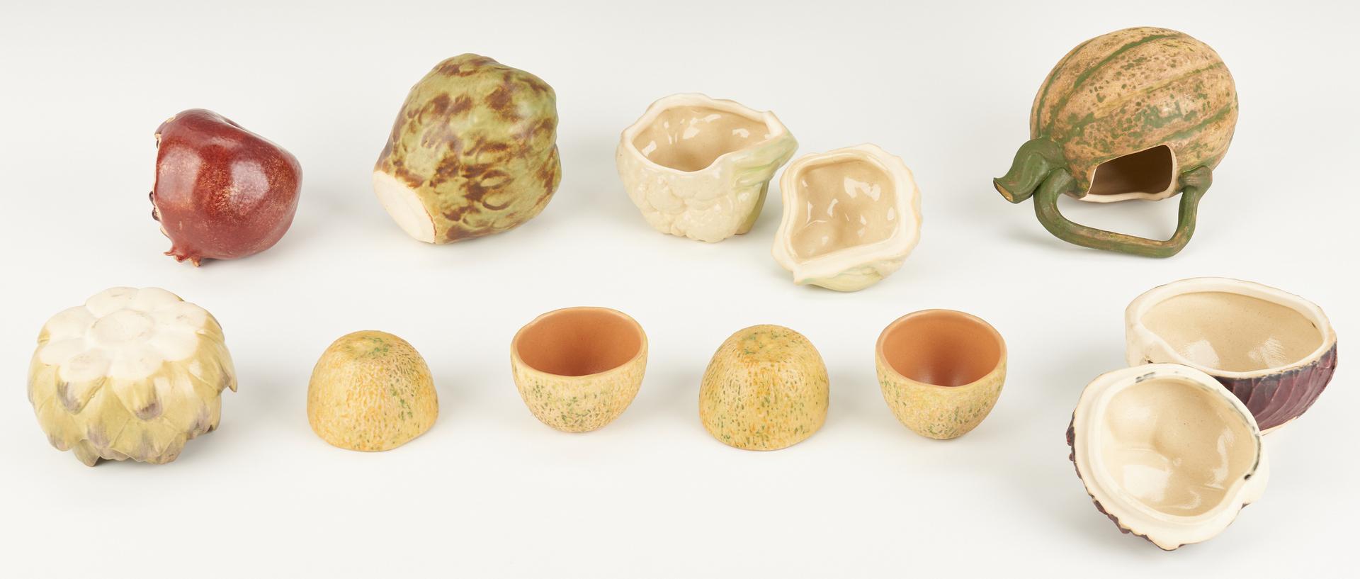 Lot 893: 23 Pcs. Patricia Garrett Art Pottery Vegetables