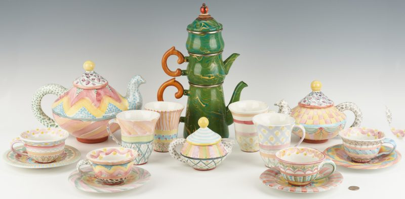 Lot 894: 18 Pcs. MacKenzie-Childs Ceramic & Enamel Ware