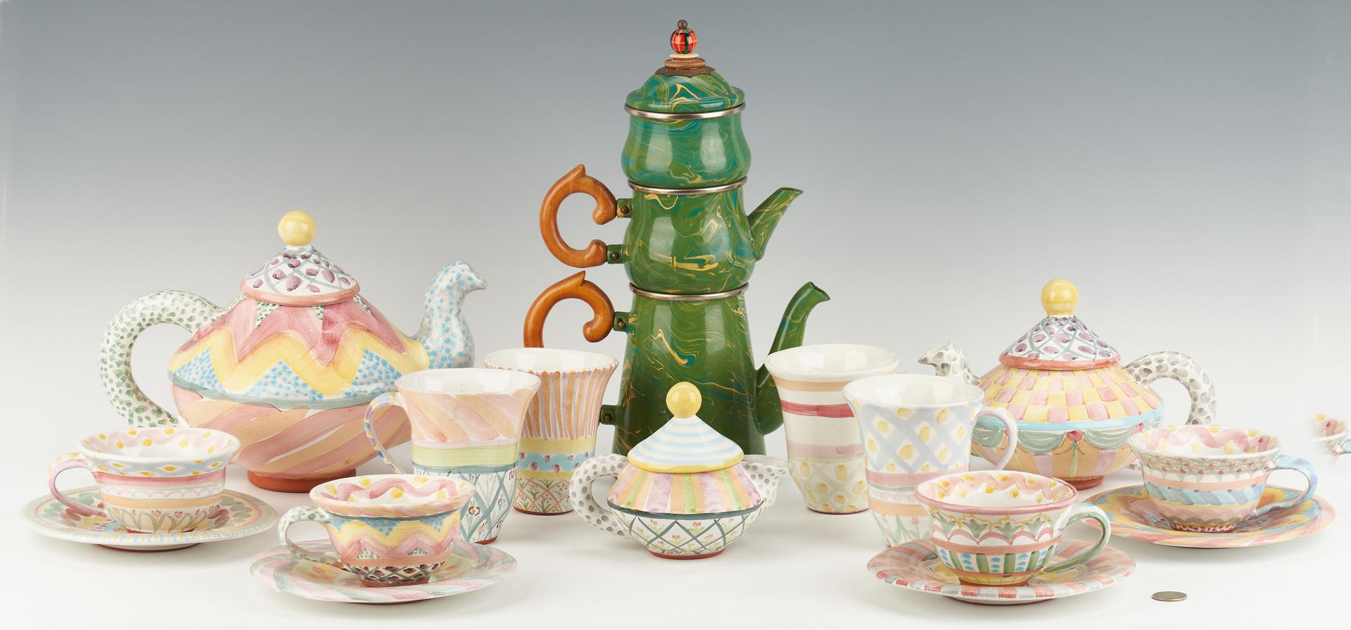 Lot 894: 18 Pcs. MacKenzie-Childs Ceramic & Enamel Ware